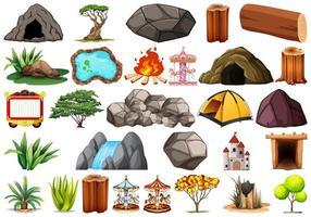 Set van verschillende aard en amusement objecten