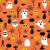 Halloween naadloze patroon achtergrond