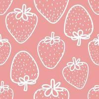 Verse Aardbeien Naadloze Achtergrond vector