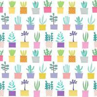 Succulente plant naadloze patroon achtergrond