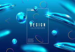 Kleurrijke abstracte gradiënt blauwe vervaagt vector