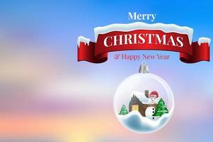 2020 nieuwjaarskaart met Kerstmisachtergrond vector