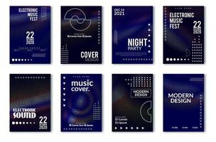 Elektronisch muziekfestival minimaal posterontwerp