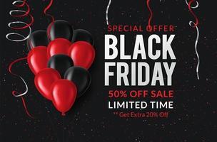 Black Friday-verkoopposter vector