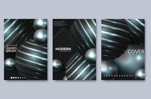 Abstract vloeistof cover ontwerp