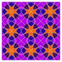 Gebrandschilderd glas geometrisch naadloos patroon vector
