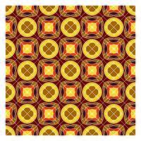Retro geometrisch naadloos patroon