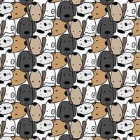 Hand getrokken schattige honden patroon illustratie vector