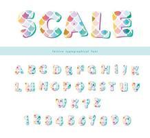 Zeemeermin schaal trendy lettertypeset