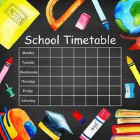 Tijdschema Terug naar school