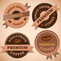 Set vintage retro koffie badges vector