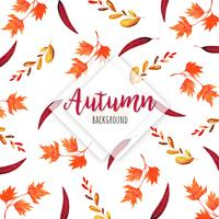 Mooie aquarel herfstbladeren achtergrond