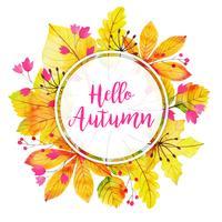 Mooie aquarel herfstbladeren frame