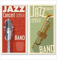 jazz festival banner set vector