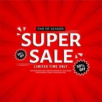Abstracte kleurrijke Super verkoop achtergrond vector