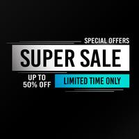 Super verkoop achtergrond vector