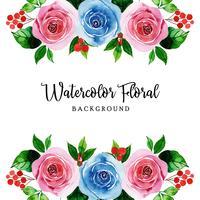 Waterverf Bloemenachtergrond vector