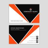 Sjabloon voor modern visitekaartjes met abstract ontwerp vector