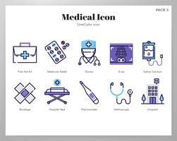 Medische pictogrammen pack vector