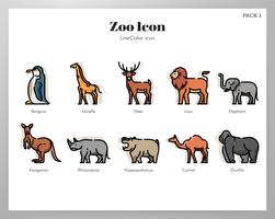 Zoo pictogrammen LineColor pack