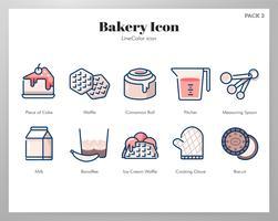 Bakkerij pictogram LineColor pack