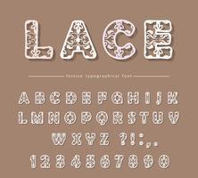 Papier uitgesneden kanten filigraan decoratief lettertype