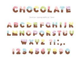 Feestelijke chocolade wafer lettertype