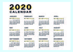 Minimale en eenvoudige kalendersjabloon