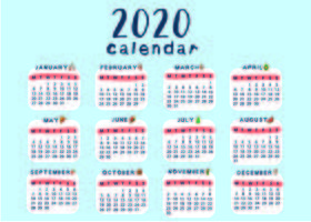 Creatieve en leuke kalender sjabloon School vector
