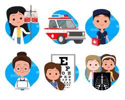 Medische pictogrammen sets