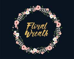Roze en witte bloemen krans