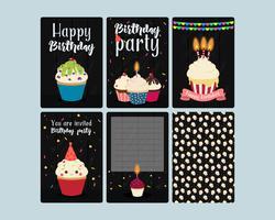 Cupcakes uitnodigingskaarten