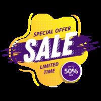 Abstract verkoop banner vector ontwerp