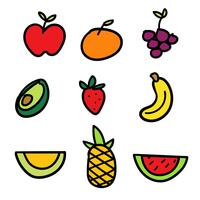 Hand getrokken Fruit Set