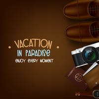 Vakantie in het paradijs vector