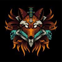 wolf kleurrijke illustratie