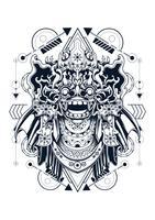barong vectorillustratie