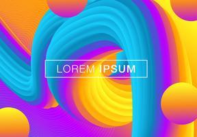 Futuristische geometrische achtergrond met kleurovergang