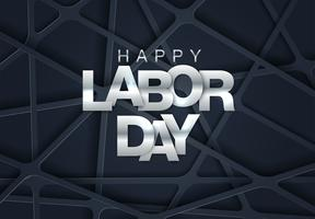 Geometrische Labor Day Card vector