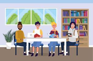 Meisjes en jongens in universitair studeren