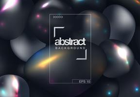 Zwarte abstracte dekking vector