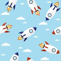 Raket naadloos patroon vector