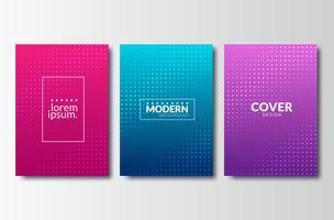 Set achtergronden met trendy ontwerp