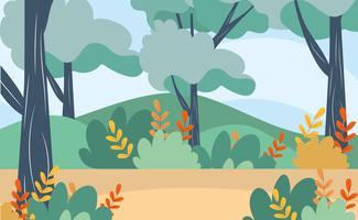 Natuur landschap met takken en bladeren