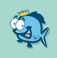 koning vis cartoon vector