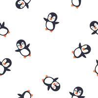 pinguïn emotie gezicht naadloze patroon