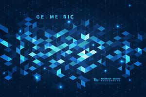 Abstracte blauwe vierkante futuristische achtergrond