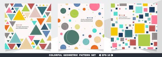 Kleurrijke geometrische patroonbundel vector