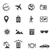 reis- en vakantie pictogrammen vector