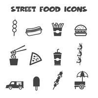 straatvoedsel pictogrammen vector